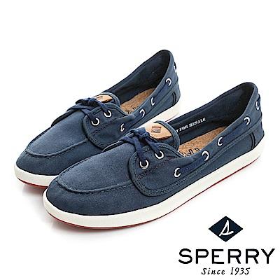 SPERRY 美式休閒柔軟輕量帆布鞋(女)-藍