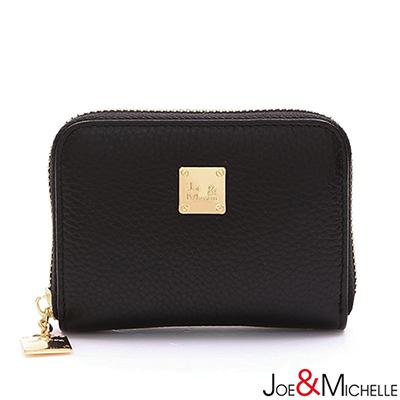 J-M-真皮巧菲絲拉鍊卡夾包-典雅黑