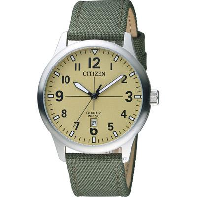 CITIZEN 星辰 簡約時尚紳士腕錶(BI1050-05X)-米黃色/40mm