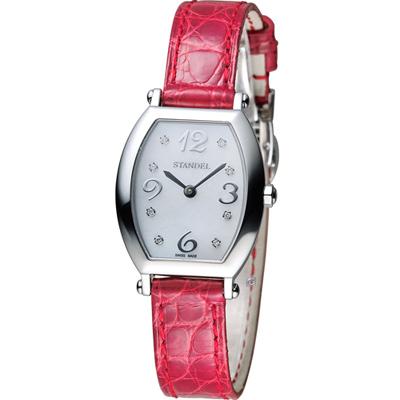 Standel Luxury  60週年紀念款頂級真鑽系-銀色x紅色/28x25mm