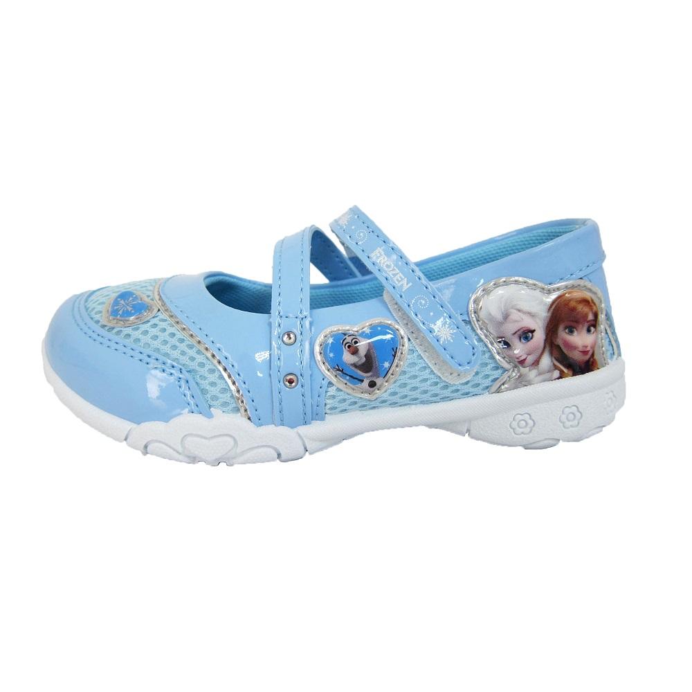 迪士尼 美國-中童 冰雪奇緣 休閒鞋 (水藍)