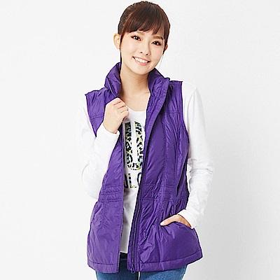 【TOP GIRL】立領棉背心-紫色