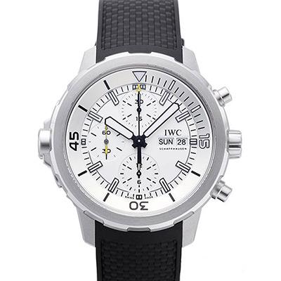 IWC 萬國錶 海洋時計計時白面黑色橡膠腕錶(IW376801)-44mm