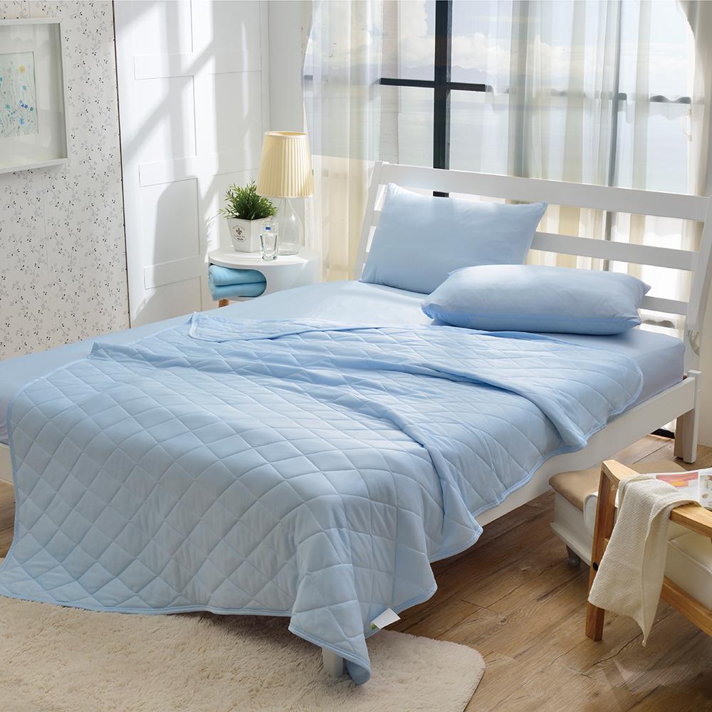 Grace Life 日式 Super Cool 涼感纖維單人床包枕套二件組