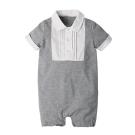 baby童衣 簡約打摺領造型短袖連身衣 60360