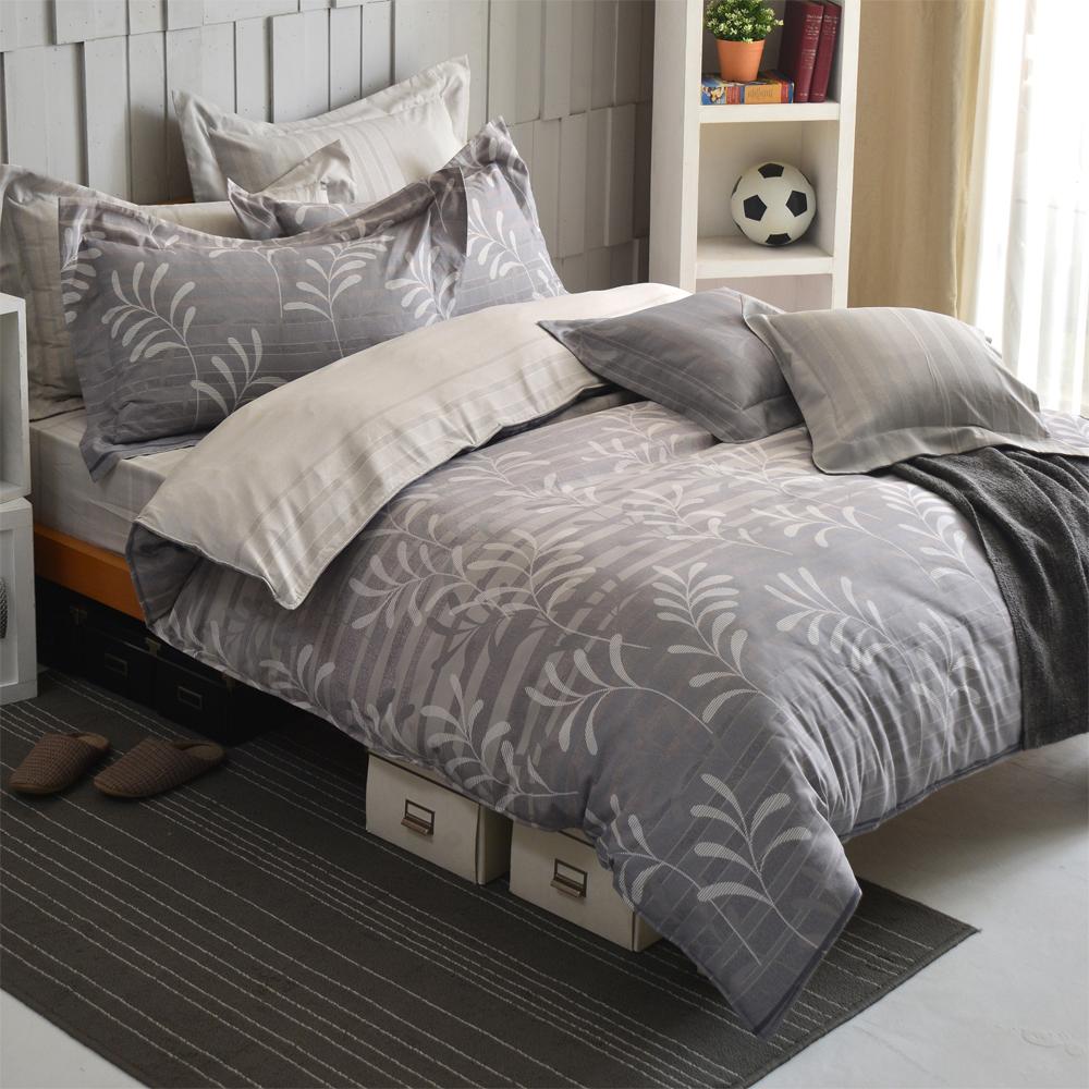 羽織美 典雅月葉 天絲雙人被套床包四件組(台灣製造)