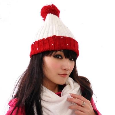 Aimee Toff 雙色歡慶可愛造型毛帽(紅)