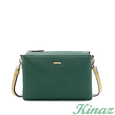 KINAZ 心動探索斜背包-自由綠-美好生活系列-快