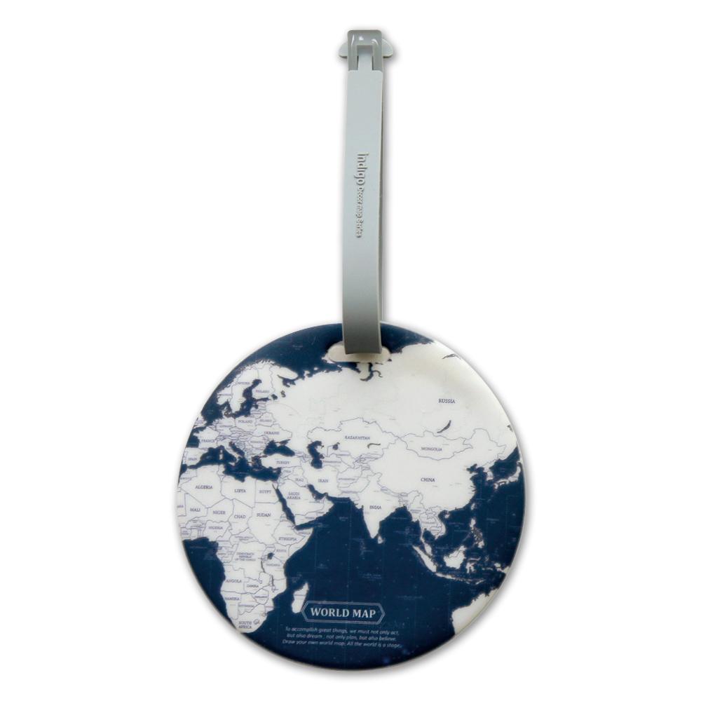 FUNZAKKA 世界地圖旅行吊牌-深藍