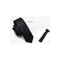 拉福,經典款手打窄版領帶5CM領帶 (黑色)