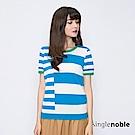 獨身貴族 線性解構撞色不規則條紋針織衫(2色)