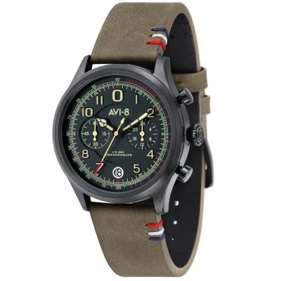 AVI-8 飛行錶 FLYBOY 飛行男孩潮流手錶-綠/42mm