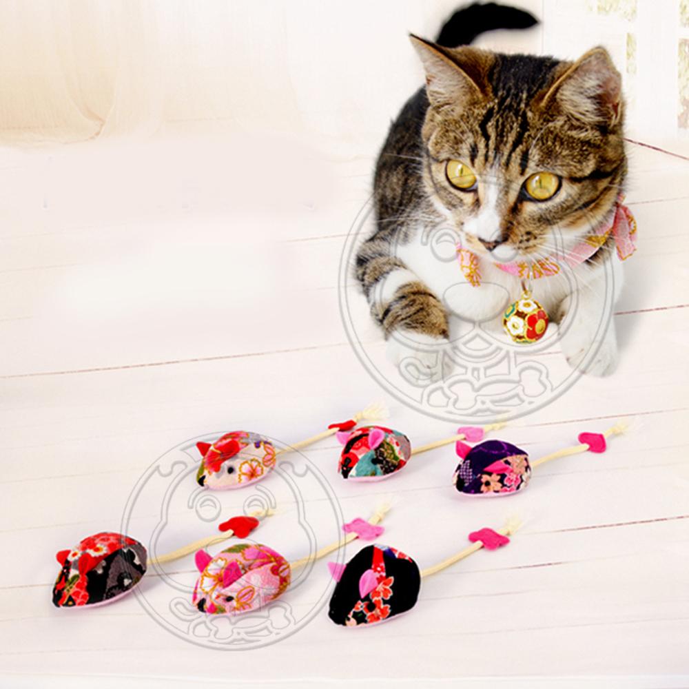 DYY》天然貓草碎花老鼠造型貓玩具18cm(隨機出貨)