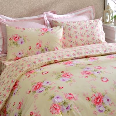 Tonia-Nicole甜夏花園精梳棉兩用被床包組-雙人