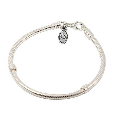 Pandora 潘朵拉 標誌吊牌 925純銀手環