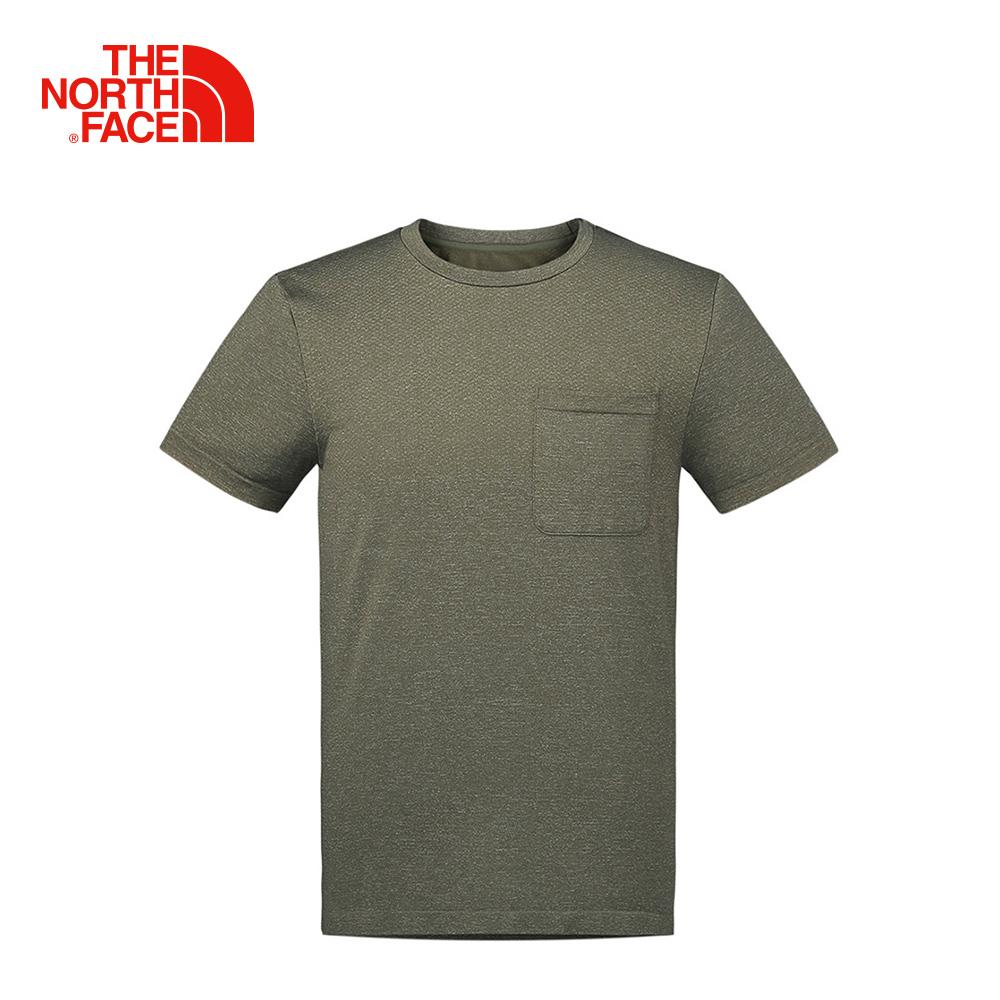 The North Face男款棕色舒適快乾短袖T恤