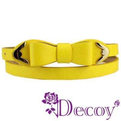Decoy 多層蝴蝶 金邊壓紋皮帶 二色可選