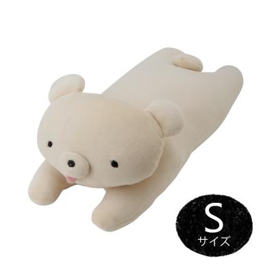 MOCHIKUMA 懶人麻吉熊S抱枕(米白)