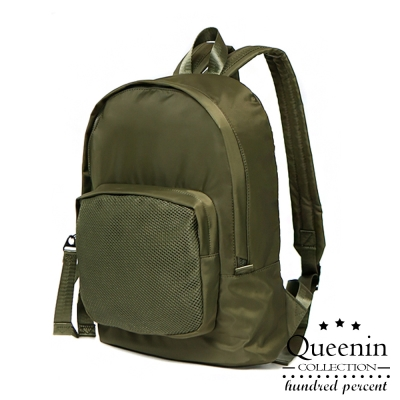 DF Queenin日韓 - 韓版輕質尼龍MA-1系列後背包-共3色