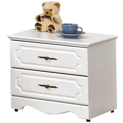 時尚屋 安東尼烤白色床頭櫃