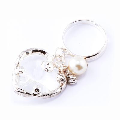 【山本美樹】美風星光 愛心水晶串珠活動戒指