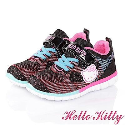 HelloKitty輕量抗菌防臭慢跑童鞋-黑(20-24.5cm)