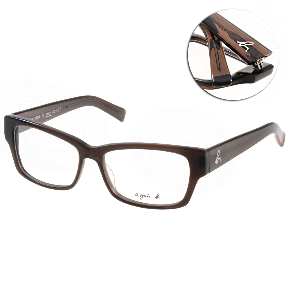 agnes b.眼鏡 自然簡約/透灰#ABP212 W09