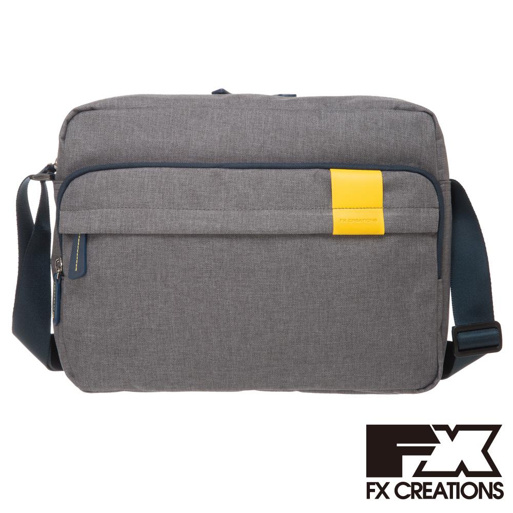 FX CREATIONS Lanford系列 橫式側背包(大)-灰LZZ21455-21