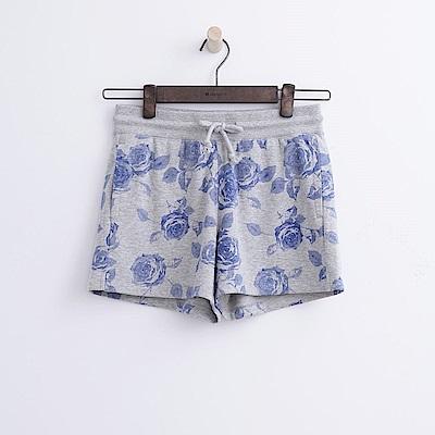 Hang Ten - 女裝 - 花卉印圖運動短褲-藍色