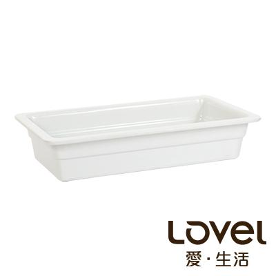 LOVEL  象牙瓷白buffet餐盤(GN1/3 65mm)