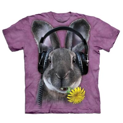 摩達客 美國進口The Mountain DJ嘻哈兔 純棉短袖T恤