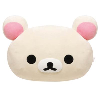 拉拉熊我愛生活系列頭型大抱枕。懶妹