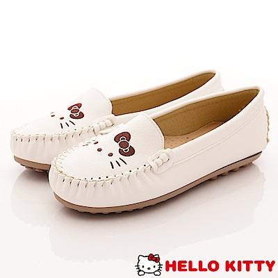 HelloKitty童鞋 休閒豆豆娃娃鞋款 SE18629白(大童親子段)