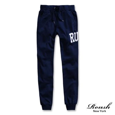 ROUSH-RUH貼布窄管束口棉褲-4色