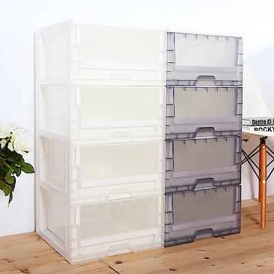 HOUSE 台灣製 透明4抽收納櫃104L