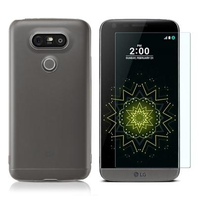 透明殼專家超值組LG G5超薄抗刮保護殼+不碎裂奈米防爆保護貼