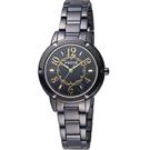WICCA  愛莉絲夢遊仙境 時尚腕錶(BT2-742-51)-黑色/32mm