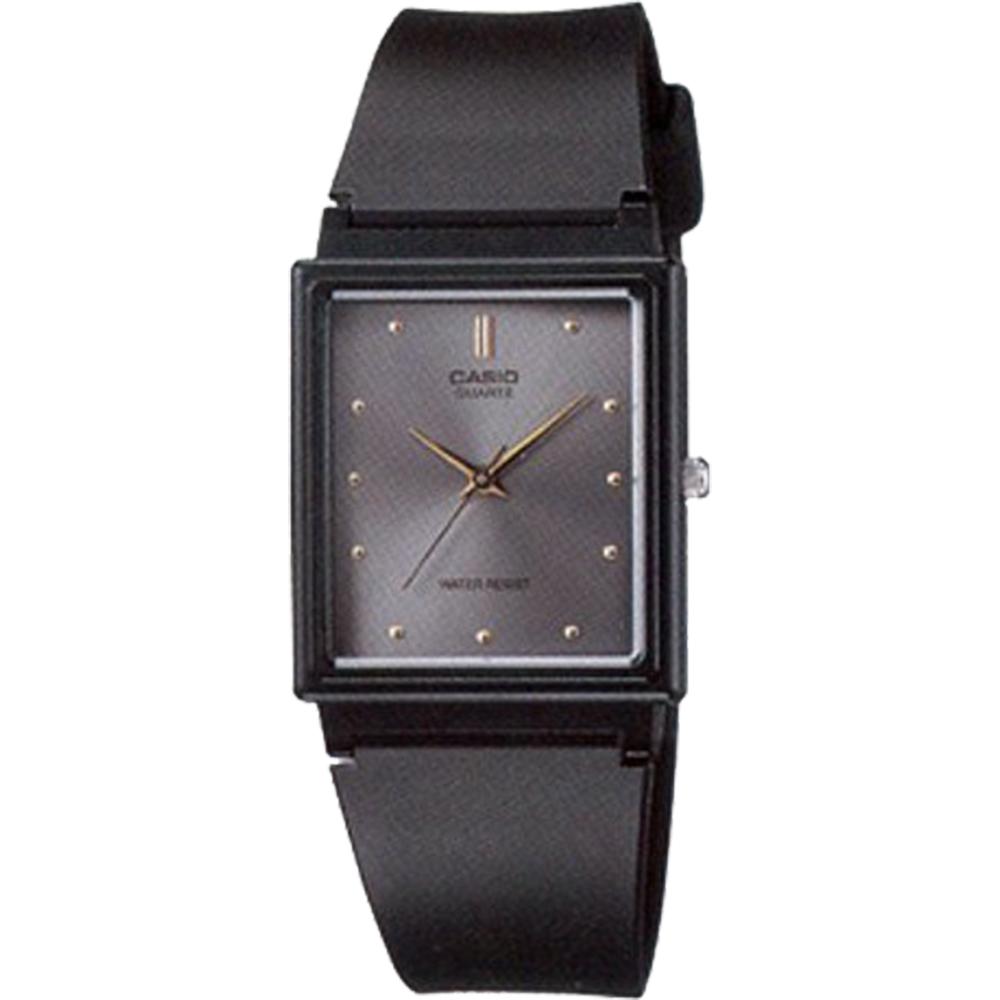 CASIO 簡約方型時尚設計腕錶(MQ-38-8A)-灰/26.5mm