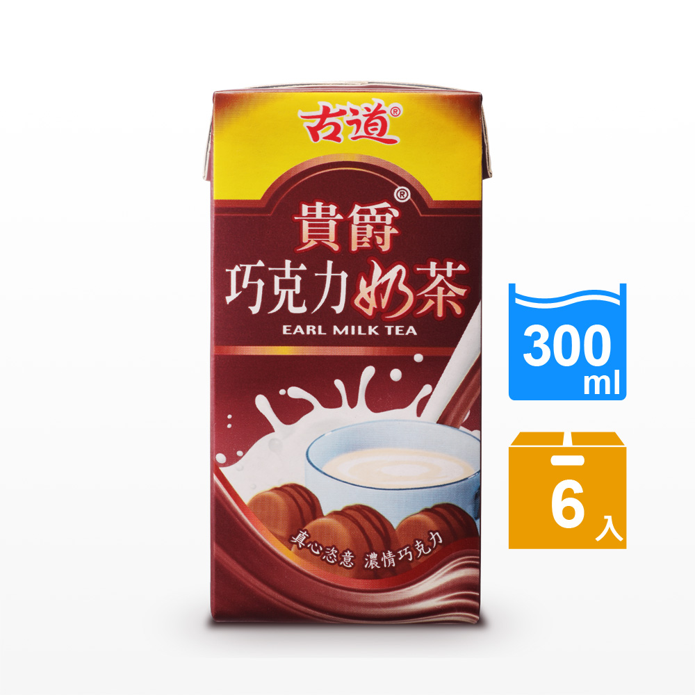 古道 貴爵巧克力奶茶(300mlx6瓶)