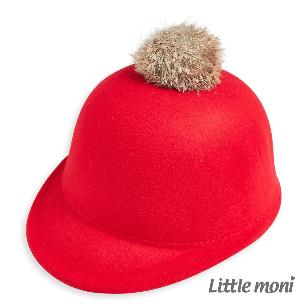 Little moni球球馬術帽紅色