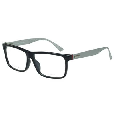 GUCCI-時尚光學眼鏡(黑.琥珀2色)