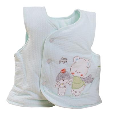 快樂熊鋪棉背心外套 藍綠 k60266 魔法Baby