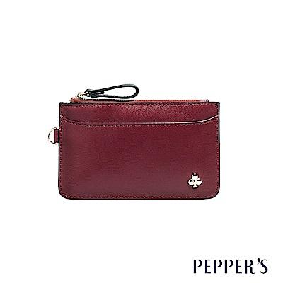 PEPPER`S Ellie 羊皮鑰匙卡夾包 - 櫻桃紅