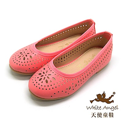 天使童鞋-J87 瑪格麗特洞洞公主鞋-西瓜紅