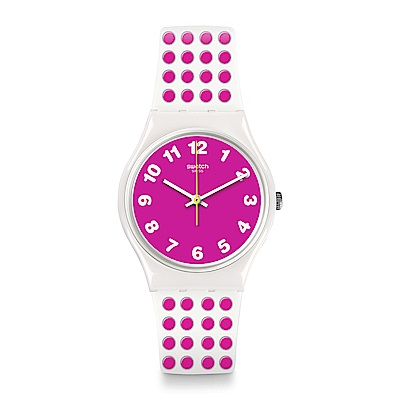 Swatch The Swatch Vibe PINKDOTS 粉色圓點手錶