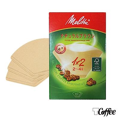 TCoffee 德國Melitta美利塔精品咖啡專用無漂白1x2濾紙