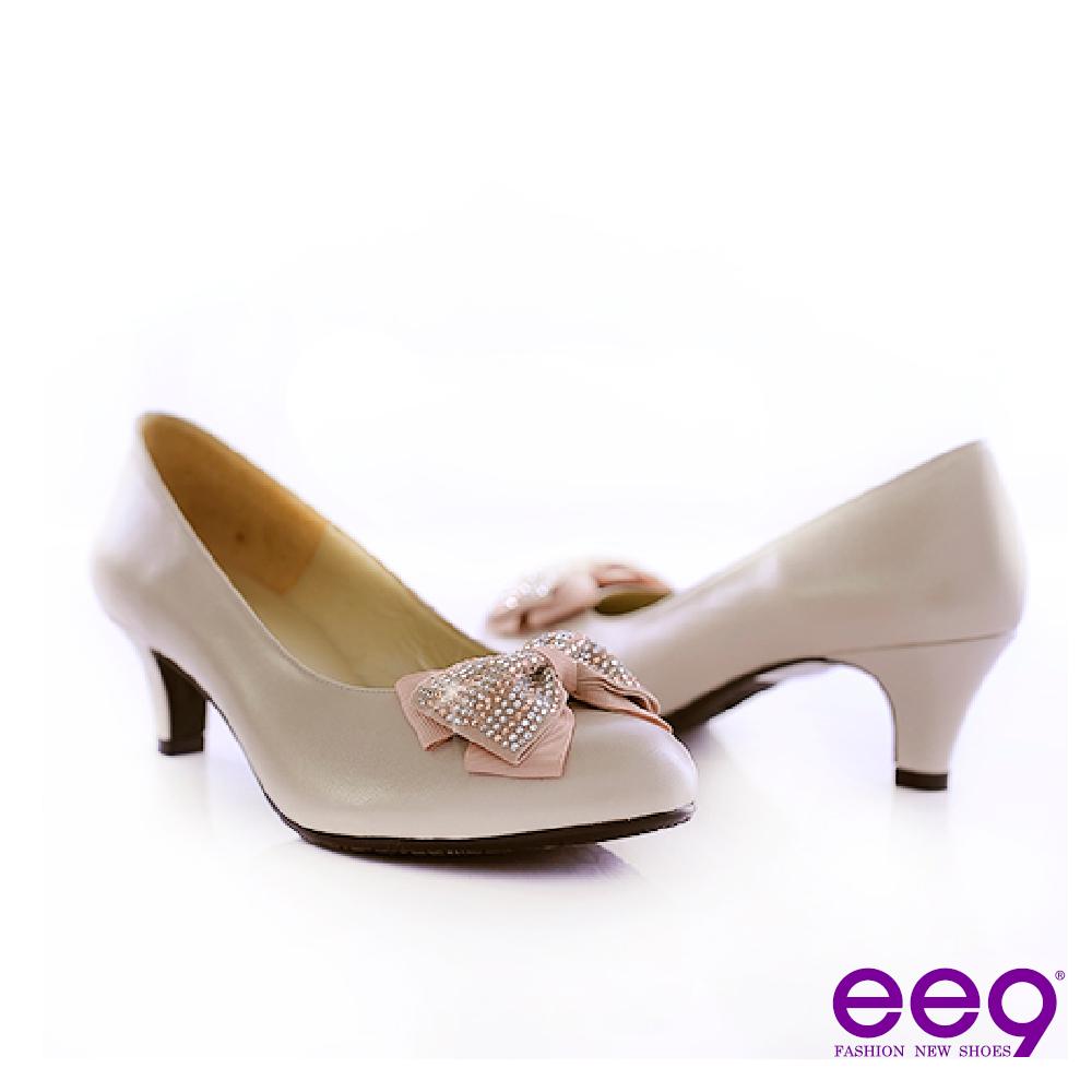 ee9 唯美名伶~A級水鑽秀氣小羊皮高跟鞋~俏麗米