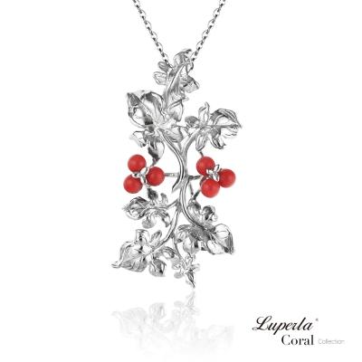 【大東山珠寶】全紅珊瑚純銀項鍊胸針兩用墜飾 金玉滿堂