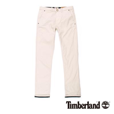 Timberland-男款灰白色反折休閒長褲