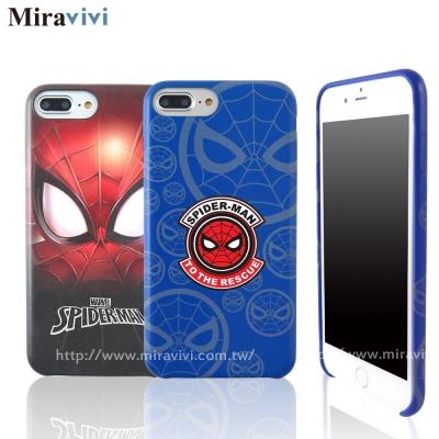 MARVEL漫威iPhone7 Plus(5.5吋)蜘蛛人經典版超薄皮革背蓋